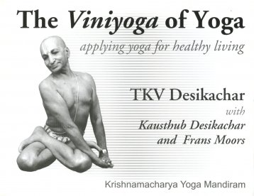 The viniyoga of yoga
